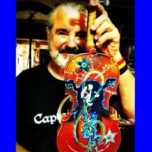 Tony Selvage with Painted Violin